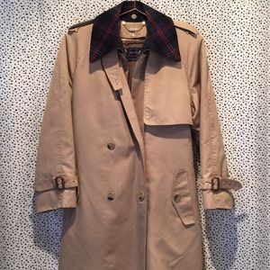 Vintage Allen Solly classic flannel lined trench